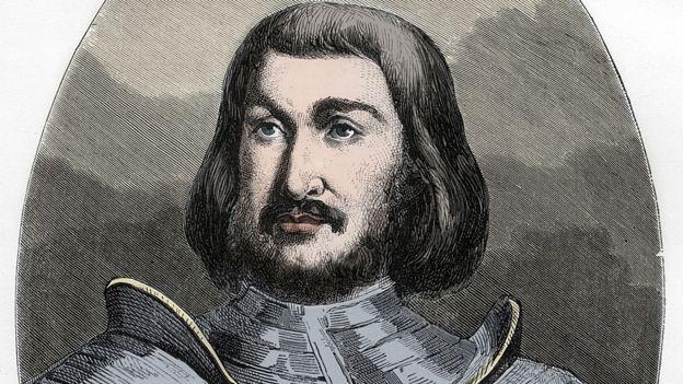 Gilles de Laval, Señor de Rais (1404-40) - grabado de 'Le Livre Rouge - Histoire De L'echafaud en France' por Dupray de La Maherie, 1863.