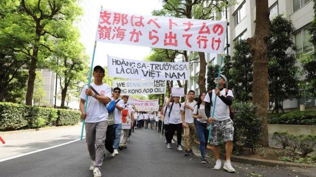 Cuộc biểu tình bắt đầu từ 10h30 sáng đến 12h trưa ngày Chủ nhật 8/9 trên đường phố Tokyo, Nhật Bản