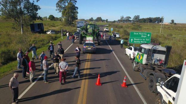 Greve de caminhoneiros em Santana do Livramento (RS)