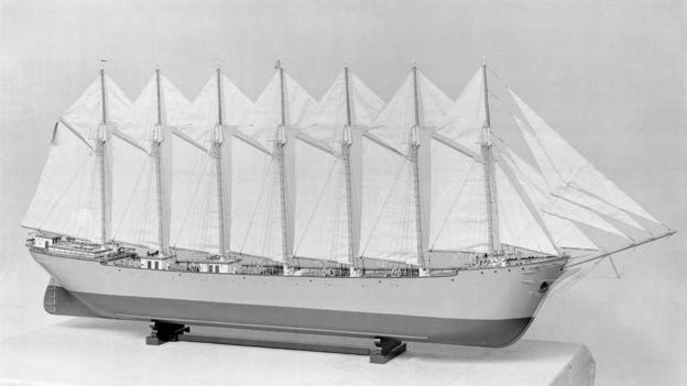 Modelo del velero Thomas W. Lawson