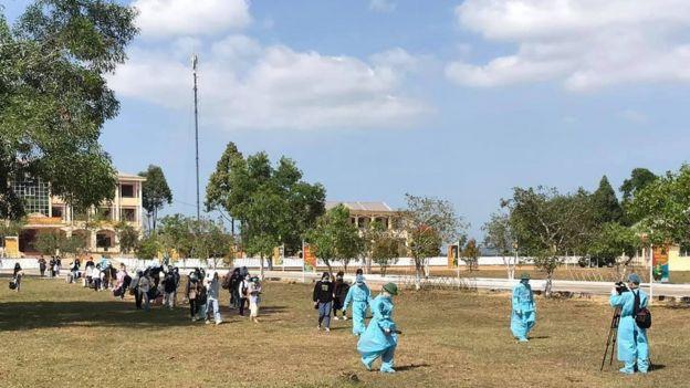 Khu cách ly tại Trung tâm huấn luyện dự bị động viên Đồng Nghệ