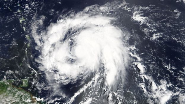 imagen satelital de maría