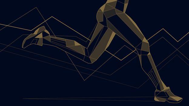 Ilustração mostra pernas de mulher em movimento de corrida
