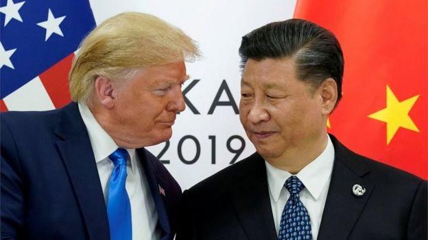 Trump e Xi Jinping em encontro do G20