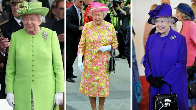 a6ddd5cce The Queen wearing a selection of brightly coloured outfits