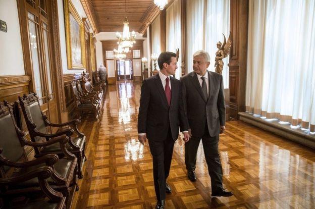 Peña Nieto y AMLO se reunieron en Palacio Nacional.
