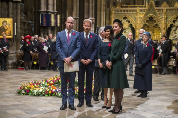 The Duke and Duchess of Cambridge and the Duke and Duchess of Sussex
