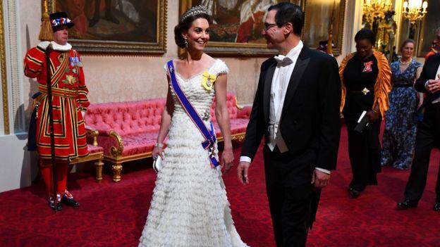 The Duchess of Cambridge and US Treasury Secretary Steven Mnuchin