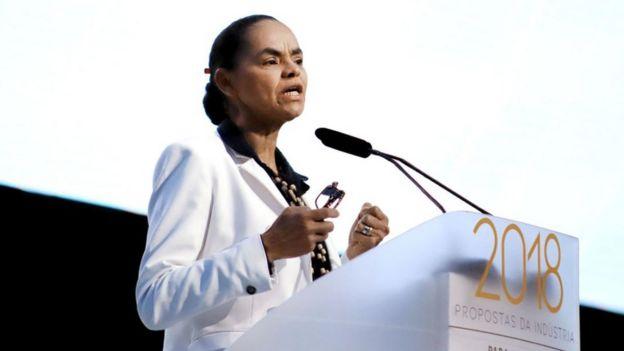 A pré-candidata presidencial Marina Silva