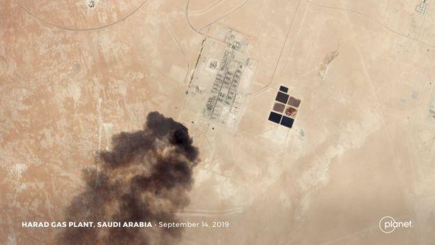 Uydu görüntüsü muhtemel drone saldırısını gösteriyor