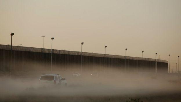 Vista de la frontera desde Ciudad Juárez