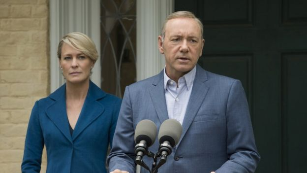 Robin Wright y Kevin Spacey