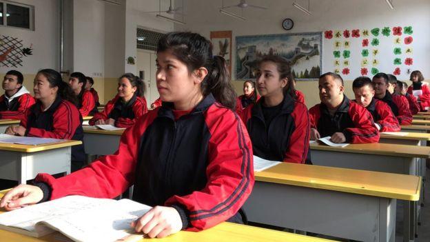 Centro de detención en la ciudad de Kashgar,