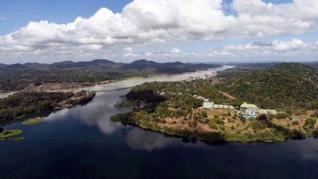 Lago artificial Gatún tem sofrido com a queda no volume de chuvas