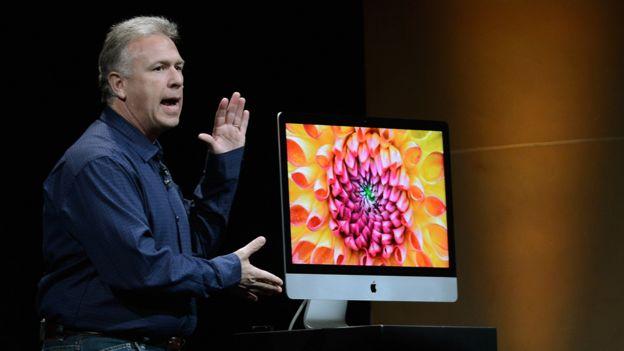 Uno de los últimos modelos de iMac.