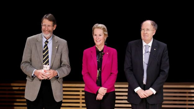 George Smith, Frances Arnold y Gregory Winter