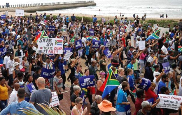 Des manifestations anti-Zuma à Durban