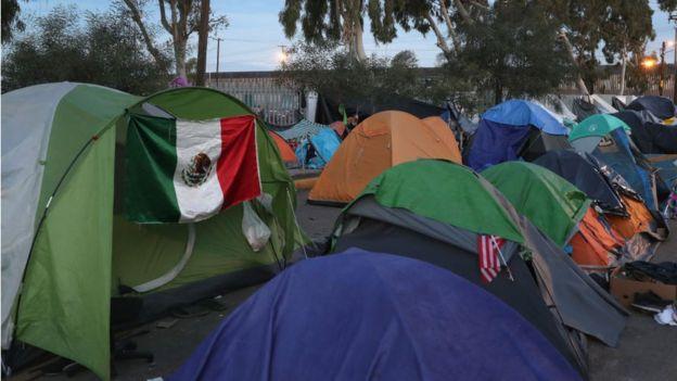 Campamento de inmigrantes
