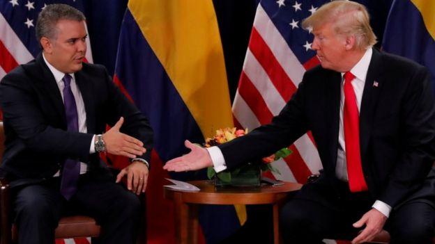 Ivan Duque e Donald Trump