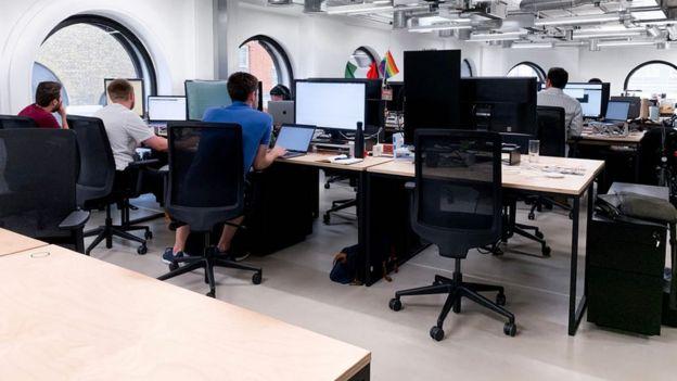 Las oficinas de Curve en Londres.