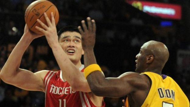 Yao Ming played for the Houston Rockets between 2002 and 2011