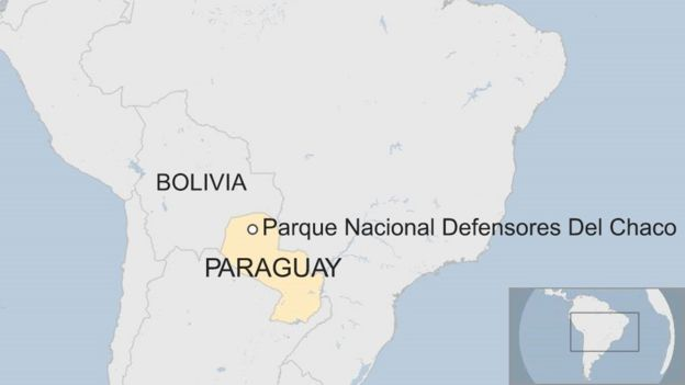 Paraguay tribe joins search for missing austrian tourist bbc news map of paraguay gumiabroncs Image collections