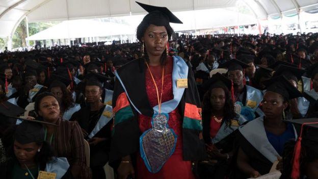 Cérémonie de remise de diplômes à l'université Makerere de Kampala, en Ouganda. (Image d'archives)