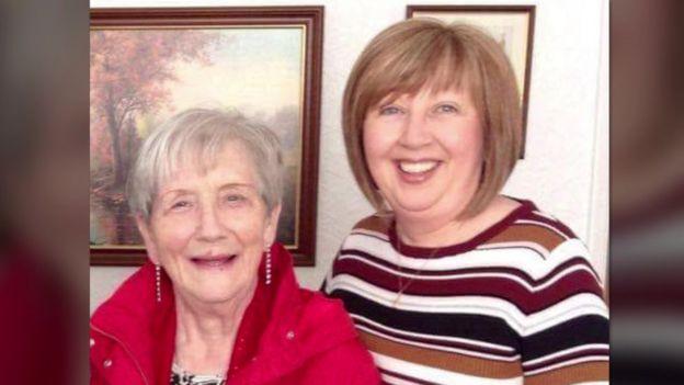 Ruth Burke (left) and her mother Brenda