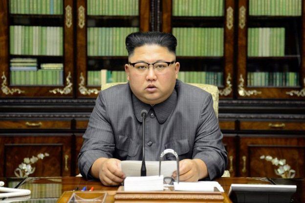 Hôm 21/9, thông tấn xã Bắc Hàn công bố hình ảnh ông Kim đưa ra lời tuyên bố cá nhân