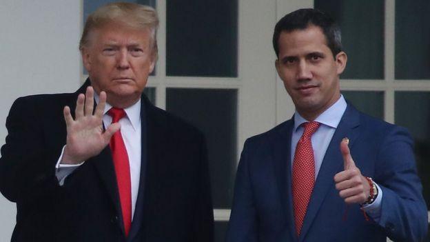 Donald Trump y Juan Guaidó.