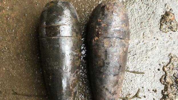 Deux obus de mortier