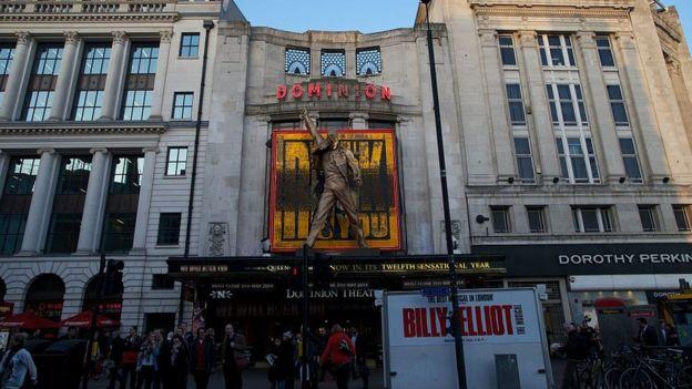 """Teatro en el que se presentó """"We Will Rock you"""", el musical sobre Queen."""