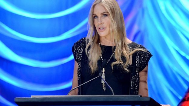 Daryl Hannah pictured on 19 October 2013 at Environmental Media Awards
