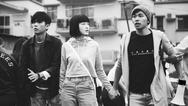 左至右:盧鎮業、廖子妤、游學修