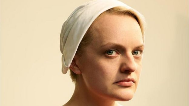 Elisabeth Moss as Offred in Hulu's the Handmaid's Tale