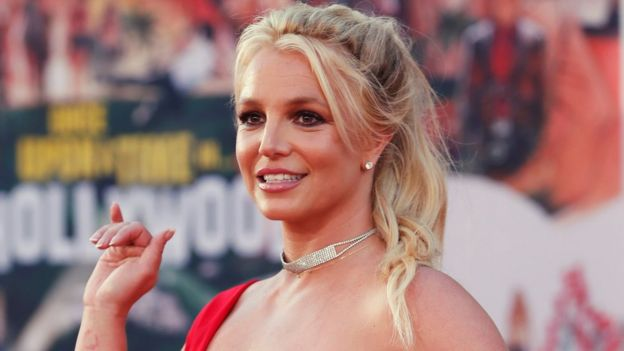 Britney attends the premiere of Quentin Tarantino's Once Upon a Time In Hollywood