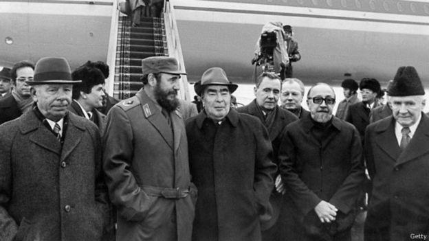 Fidel Castro và Leonid Brezhnev