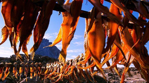 Pescado en Groenlandia