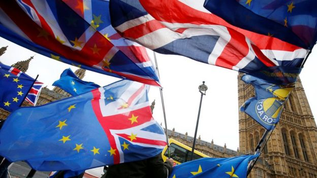 تظاهرات ضدبرگزیت مقابل پارلمان بریتانیا