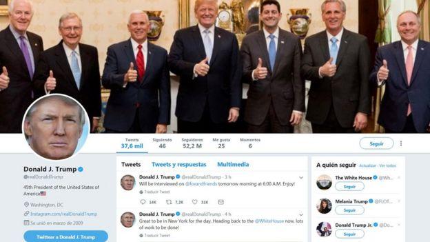 La portada de @RealDonaldTrump