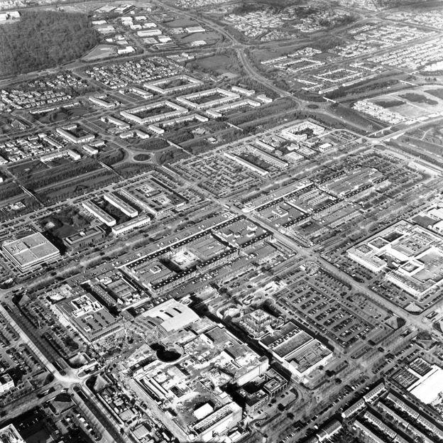 Milton Keynes'in havadan görünümü
