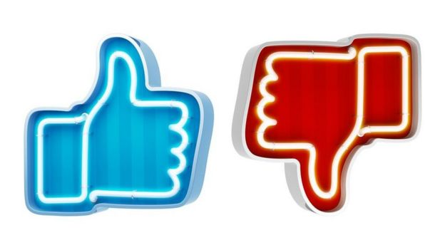 Facebook like and dislike neon signs