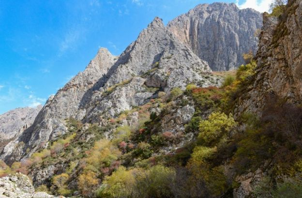 Baishiya Karst Mağarası'nın bulunduğu plato