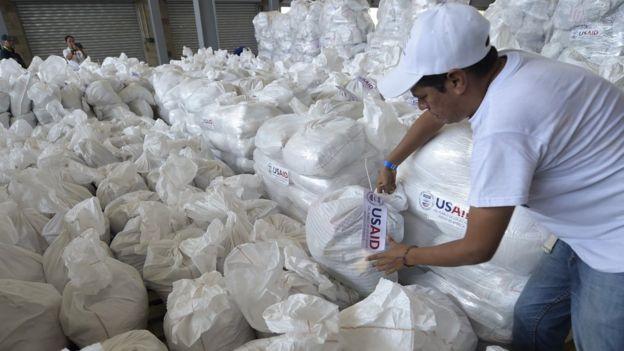 Ayuda enviada por EE.UU. a Venezuela