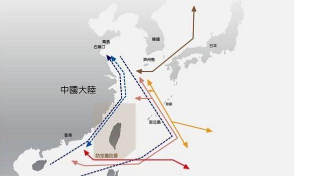 Dữ liệu của quân đội Đài Loan cho thấy máy bay của TQ đã bay lượn tới 23 lần quanh đảo Đài Loan trong khoảng một năm qua.