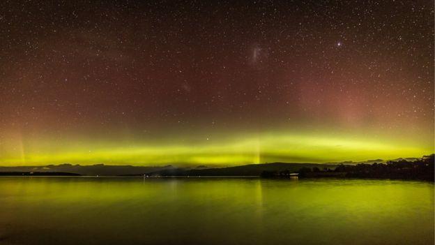 Aurora Australis seen from Tasmania on Sunday