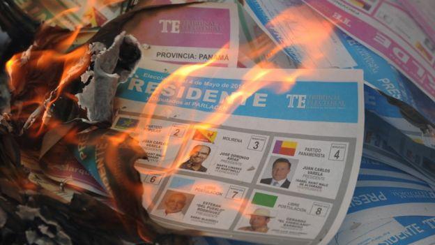 Tarjetas electorales de 2014