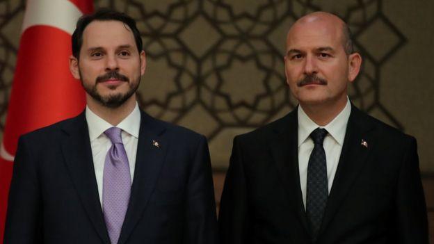 Hazine ve Maliye Bakanı Berat Albayrak ve İçişleri Bakanı Süleyman Soylu