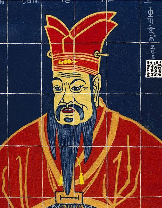 Ilustração que representa Confúcio