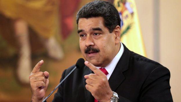 Nicolás Maduro haciendo declaraciones desde el Palacio de Miraflores tras los incidentes del sábado 4 de agosto